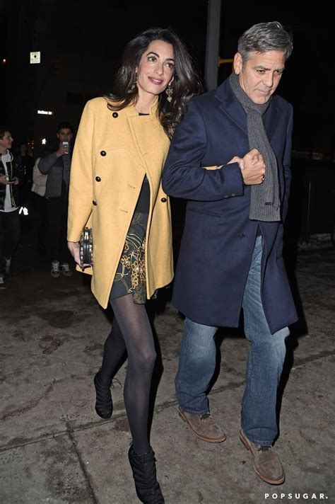 George Clooney and Amal Alamuddin Holding Hands   Pictures