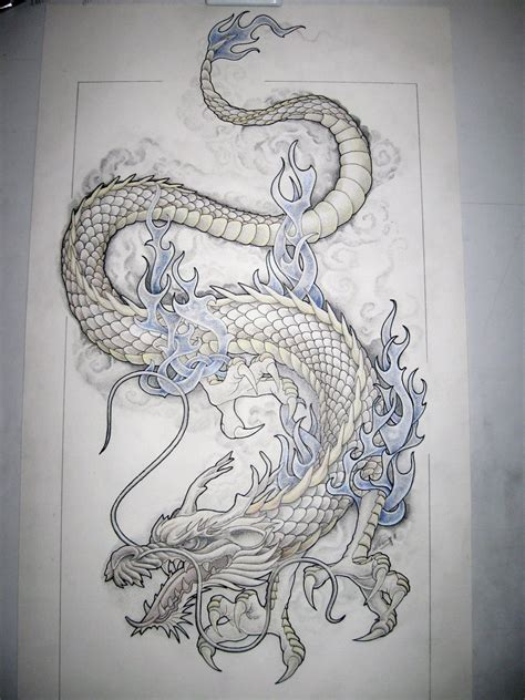traditional dragon tattoo design by design on deviantart