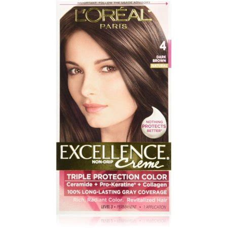 l oreal excellence creme protection permanent hair color creme medium brown 5 1 0 l oreal excellence protection permanent hair color creme brown 4 1 ea pack