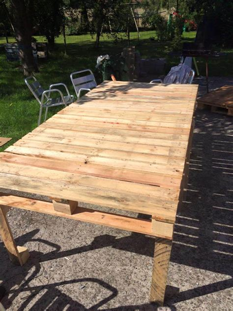 Pallet Patio Table Pallet Xl Outdoor Table 99 Pallets