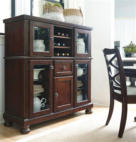 dining room server cabinet d697 76 millennium porter porter rustic brown