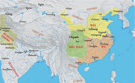 map of of the three kingdoms