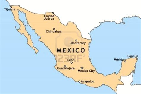 mexico in the map mexico city on the map arabcooking me