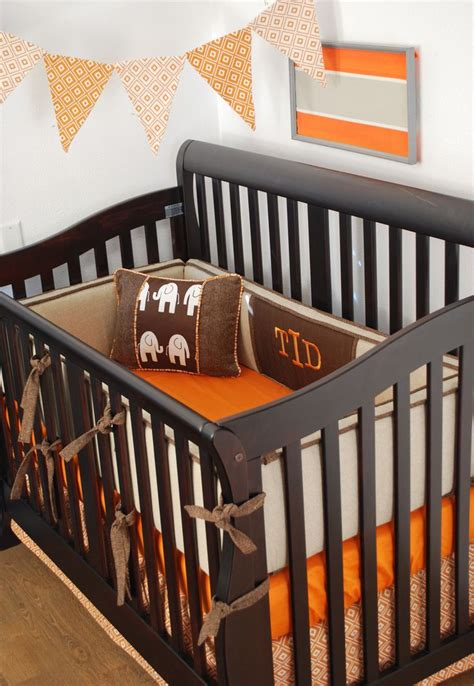 Brown And Orange Crib Bedding 149 Best Rustic Decor For Babies And Images On Pinterest Rustic Decor Nursery Ideas And