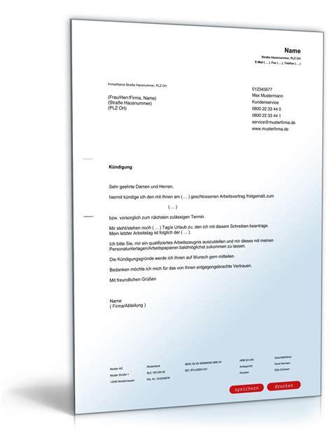Vorlage Kündigung Arbeitsvertrag Wegen Mobbing K 252 Ndigung Arbeitsvertrag Arbeitnehmer Muster Yournjwebmaster
