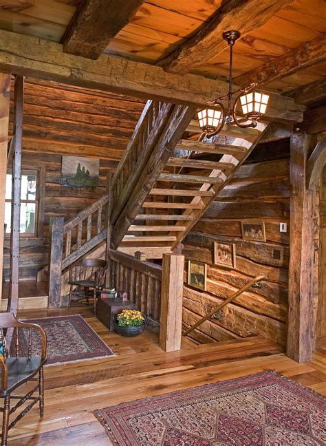 stunning rustic cabin plans loft with wooden staircase 88 best images about log homes on pinterest western