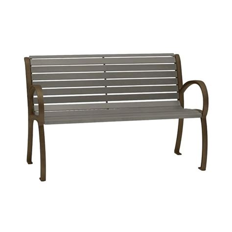 armed bench 4 ft district style arm bench with powder coated aluminum