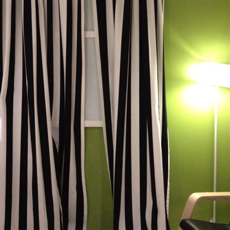 Black White Curtains Black And White Striped Curtains My Work Space Ikea Fabric Shopping Lists And
