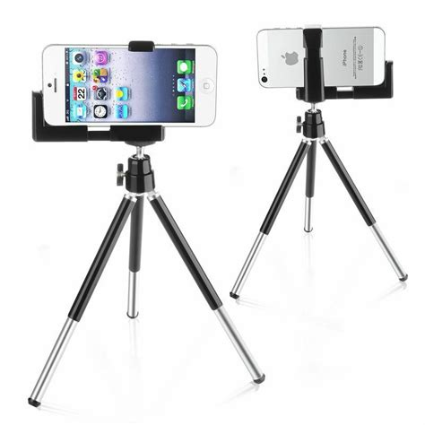 iphone tripod mount for iphone 5s 5 se ipod touch 5 rotatable tripod mount stand phone holder black ebay