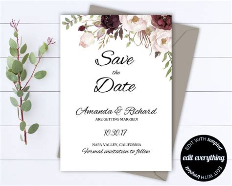 wedding save the date card black chalkboard superdazzle custom