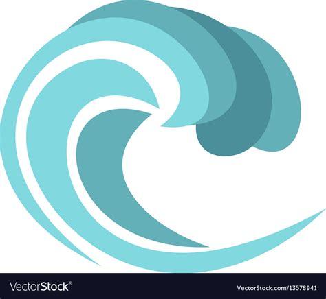 cartoon boat waves round wave icon cartoon style royalty free vector image