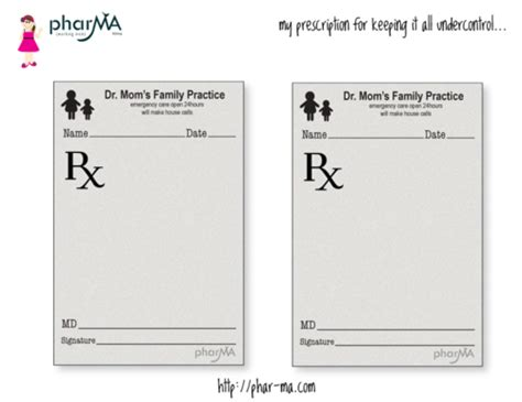 Free Printable Dr Mom S Prescription Pad These Quot Prescription Pads Quot Are A Great Way To Brighten Mattress Prescription Template