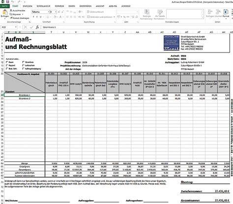 Angebot Vorlage Shk mobiles aufma 223 programm f 252 r excel streit datentechnik
