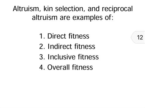 Altruism Question solved altruism kin selection and reciprocal altruism a