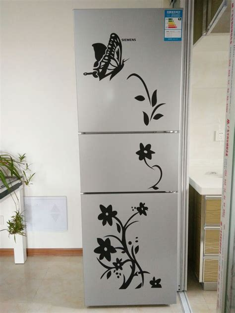 home wall decor stickers high quality creative refrigerator black sticker butterfly