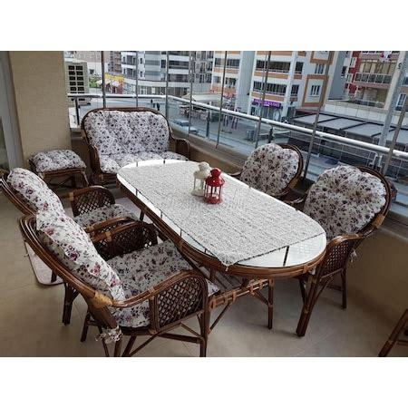 bambu bahce balkon mobilya  takimi  ncom