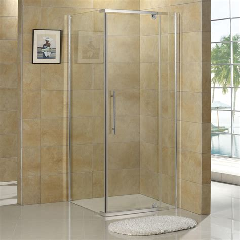 corner bath with shower enclosure 36 quot x 36 quot miranda reversible corner shower enclosure