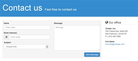 bootstrap templates for about us 8 free bootstrap contact form templates with validation