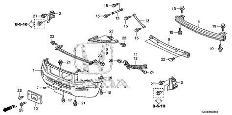 honda ridgeline parts diagram honda store 2006 ridgeline front bumper 1 parts