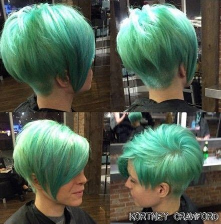hair that is asymetric in back 1000 ideas about green hair streaks on pinterest hair