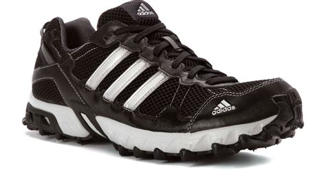 shoes mens adidas thrasher 2 running shoes black metallic silver lyst adidas originals thrasher 1 1 trail running shoe in