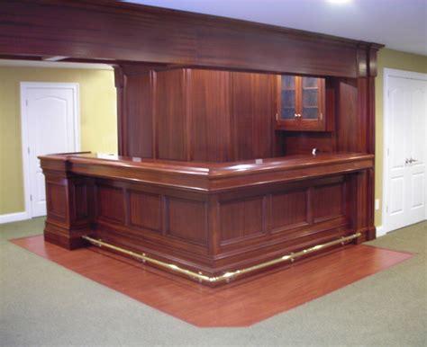 home bar in mahogany traditional basement new york