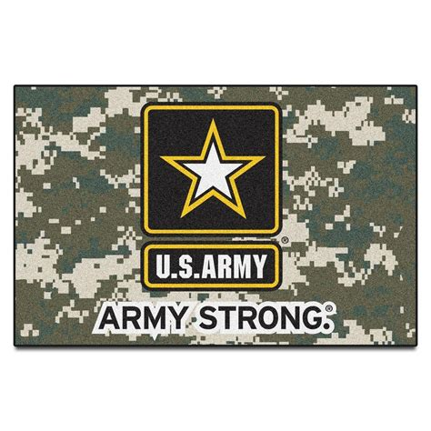 army rug fanmats u s army accent rug 19 in x 30 in accent rug 5656 the home depot