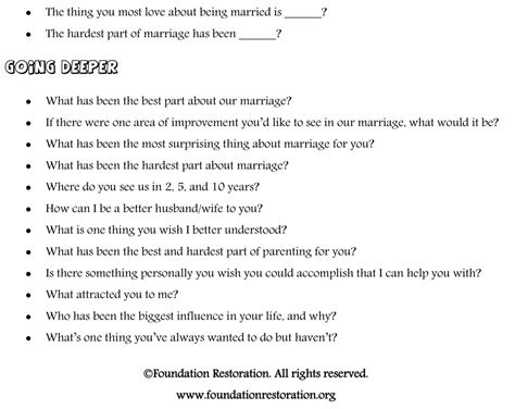 conversation starters for couples foundation restoration