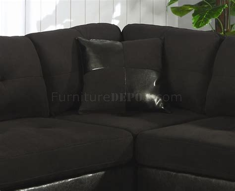 black microfiber couches microfiber faux leather contemporary sectional sofa