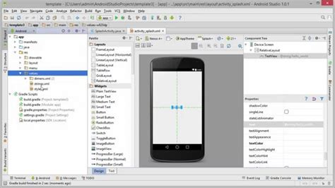 template android studio gratuit android tutorial 10 creating an app template android