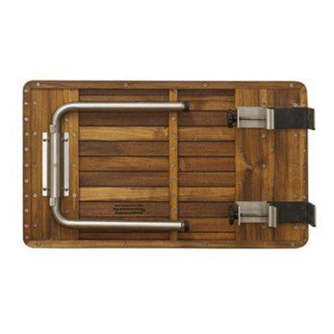 ada folding teak shower seat ada compliant teak shower bench with legs at n ada
