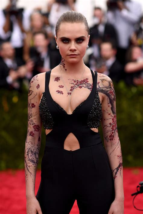 cara delevingne tattoo cara delevingne got sleeves for the met gala
