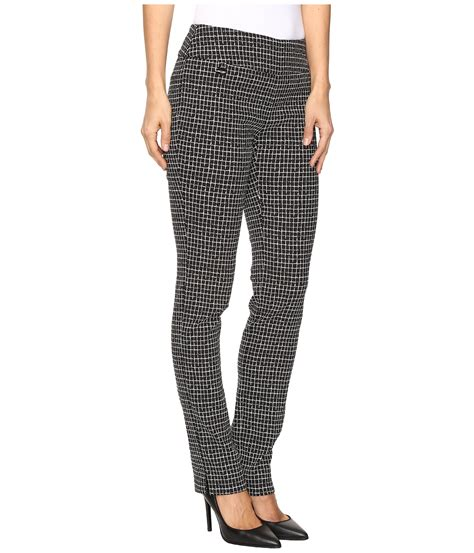 grid pattern jeans lisette l montreal grid pattern slim pants at zappos com