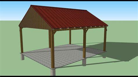 carport design shed plans stout shedsllc youtube