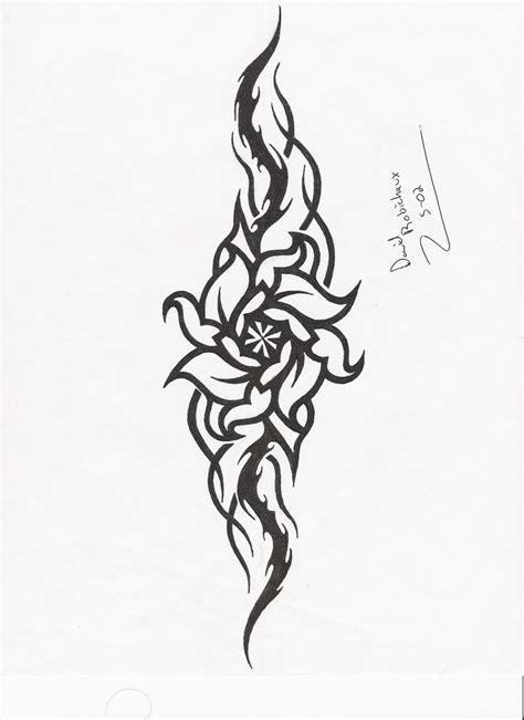 tattoo design rose tribal tribal rose by spoiledpotato on deviantart