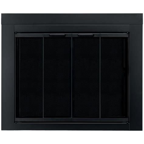 pleasant hearth ascot small glass fireplace doors at 1000
