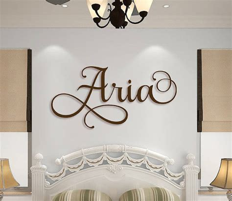 fancy name for bedroom wooden name sign wall hanging letters for nursery or bedroom