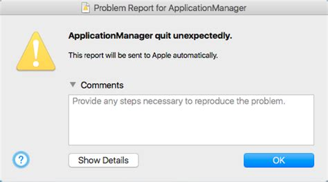 bluestacks quit unexpectedly mac applicationmanager quit unexpetedly applexchanger