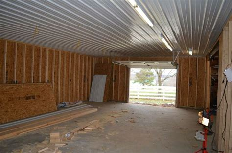 ribbed metal ceiling cheap garage polebarn pinterest