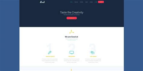 Beautiful Landing Page Templates Psd Create Free Landing Page Templates