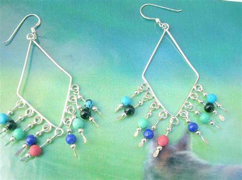 Diamon Glass Motif Gloria Display 925 sterling silver earring motif fringe with
