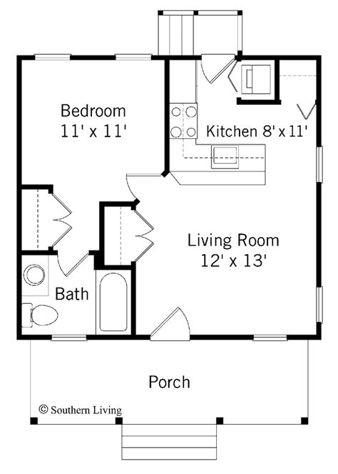 one bedroom floor plan bungalow house plans home designer