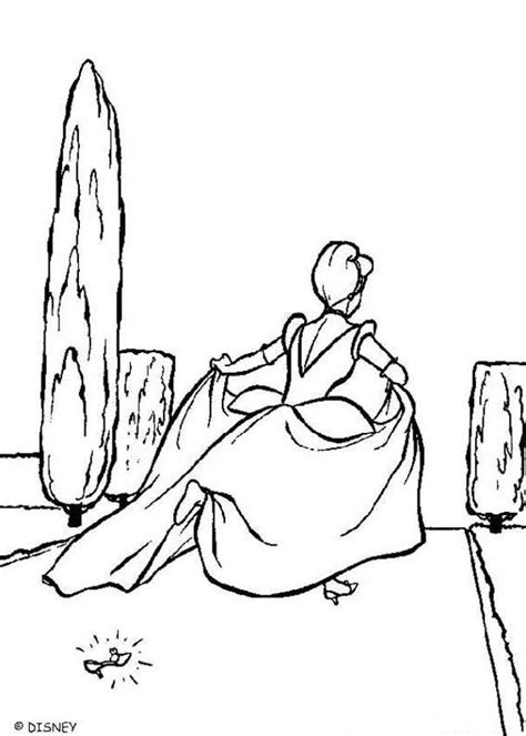 cinderella s slipper coloring pages hellokids com