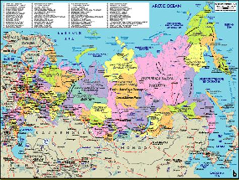 russia political map with cities map of russia selection of the best russia maps