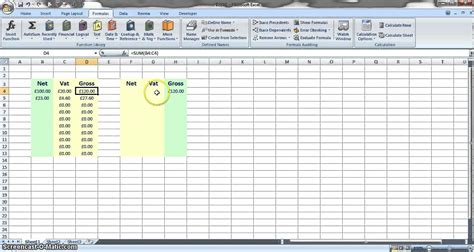 vat spreadsheet template vat calculation