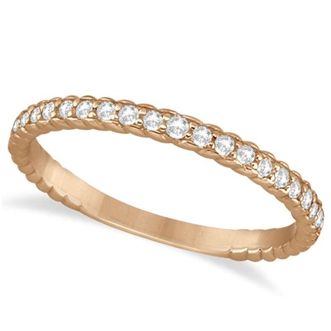 Rope Wedding Bands by Rope Style Wedding Band 14k Gold 0 21ct