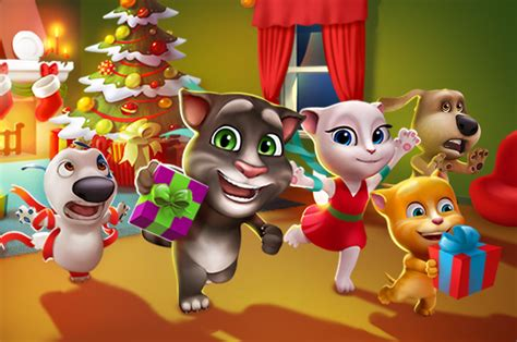 talking tom and friends characters new year always fun talking tom and friends