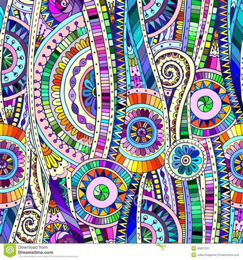 mosaic tribal doddle ethnic seamless pattern stock vector