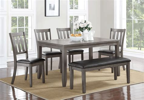 Grey Dining Room Set Canada Cosgrove Grey 7pc Dining Set Overstock Warehouse