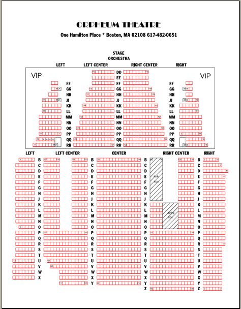 orpheum theatre boston seating chart orpheum boston seating chart orpheum theatre los angeles